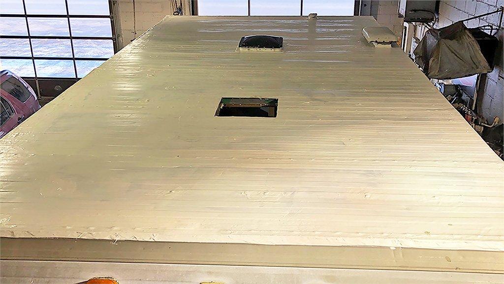 Metal Camper Roof Restoration After